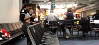 Limbo am Flughafen