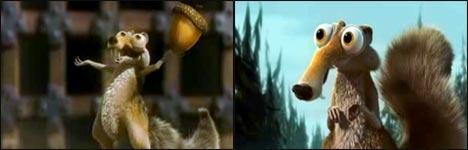 ice age, scrat, nuts, pixar, animation