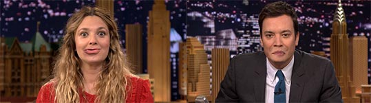 Lip Flip, Drew Barrymore, Jimmy Fallon