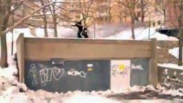 Lucky Snowboarder, Glück, Überschlag