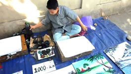 artist from Yangon, Myanmar