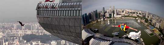 Marina Bay Sands Skypark BASE Jump, Singapore 2012