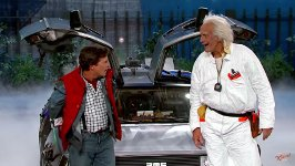 Marty McFly Doc Brown Jimmy Kimmel