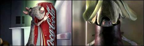 animation, cola, mäuse, ratten, diebstahl