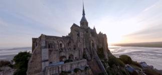 Drohne Mont Saint-Michel