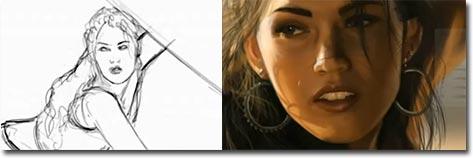 Megan Fox, Speedpainting, Nico Di Mattia