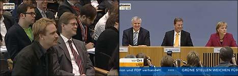 Merkel, Schäuble, 100.000 Mark