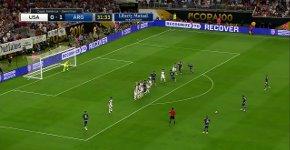 Messi Freistoßtor Argentinien USA