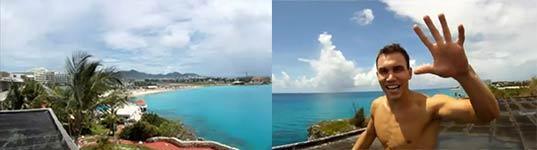 Michal Navratil, jump, hotel, St. Maarten