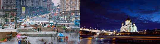moskau, timelapse, russland