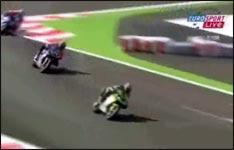 Motorradrennen, Jubel, Unfall