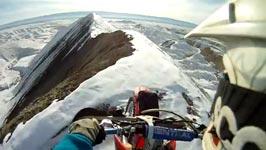 Motorrad, Berge, Schnee