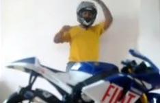 motorrad, model, optische täuschung