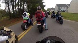 Motorrad, Reifen, Arsch, Sozius