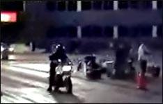 motorrad, crash, kickstart
