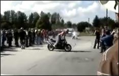 Motorradshow, Unfall