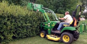 Mowing The Hedge