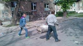 Polen, Mülltone, Explosion