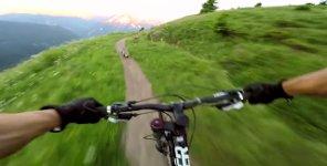 Murmeltierjagd beim Mountainbike Downhill