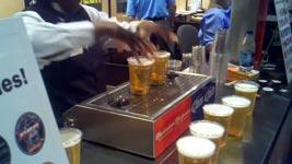 bier zapfen von unten