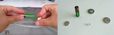 Magnet-Batterie Motor