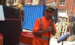 Gary, Bauarbeiter, singen, NY