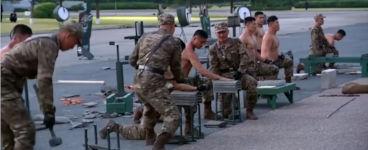 Nordkorea Soldaten Armee Muskeln