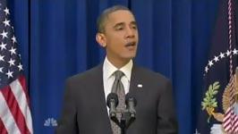 barack obama tritt gegen die Tür