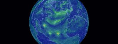 Zeitraffer Oberflächenwinde Nordatlantik
