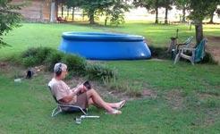 Grandpa Shoots The Pool