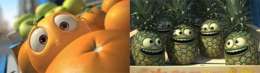 Orange, Ananas, Animation