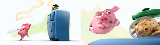 ormie the pig, schwein, animation