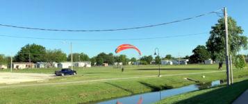 Paraglider Absturz Stromkabel