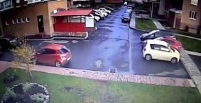 Parkplatz Crash