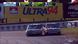Fotofinish beim NASCAR Rennen