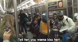 U-Bahn, Bauchredner, Frauen ansprechen