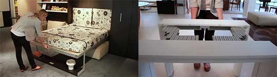 platzsparende m bel. Black Bedroom Furniture Sets. Home Design Ideas