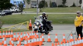 Polizist, Motorrad Kurs