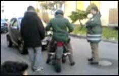 Polizei, Kontrolle, roller, moped