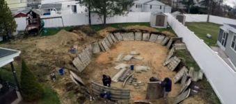 Pool Bau Zeitraffer