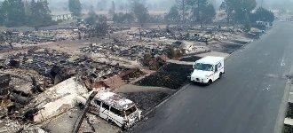 Post Waldbrand Santa Rosa Feuer Drohne