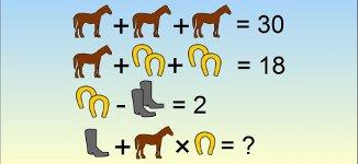 Rätsel Pferde Hufeisen Stiefel