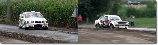 rally, crash, kurve, mast
