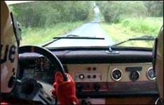 ralley, traktor, crash, unfall
