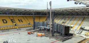 Rammstein Bühne Aufbau Stadion Dresden