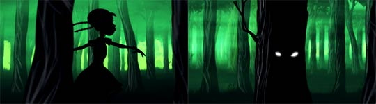 Rotkäppchen, Animation, Wolf
