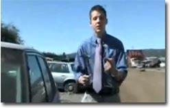 Reporter, Autodiebstahl, Einbruch, Glasscheibe, Hammer