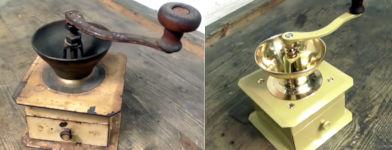 Restaurierung alte Kaffeemühle