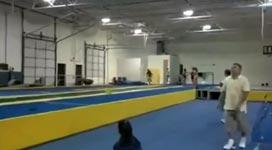 Gymnastik Backflip Meister