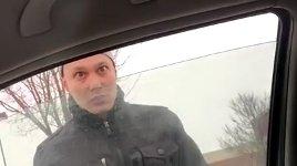 Road Rage Fensterscheibe einschlagen